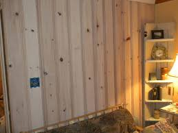 Painted Knotty Pine Repurposed Style