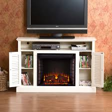 48 antebellum a electric fireplace antique white