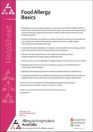 Food Allergy - Allergy & Anaphylaxis Australia