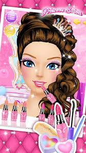princess salon s makeup dressup and makeover games screenshot