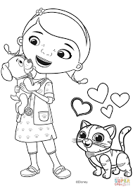 Costumes Doc Mcstuffins Coloring Pages Free Printable Birthday