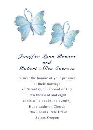 simple romantic blue erfly spring wedding invitation ewi100