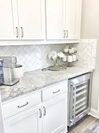 Marble Kitchens With White Cabinets And Flowers Marble Countertops I85