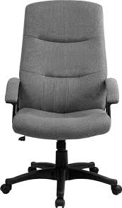 office chair fabric upholstery. Contemporary Office Gray Fabric Upholstered High Back Executive Swivel Office Chair By  Pertaining To Chairs Design 11 Throughout Upholstery P