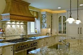 Granite With Cream Cabinets Kitchen Astounding Cream Kitchen Cabinets With Glaze Cream