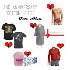 cotton 2nd anniversary gifts fresh 2nd wedding anniversary gift ideas for him cotton