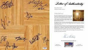 Duke Blue Devils Team Signed Autographed Floor Board Signed By 10