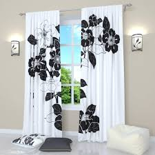 Amazon.com: Factory4me Black and White curtains by Black flower ...