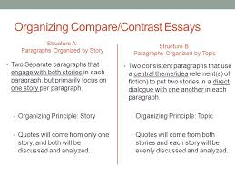 comparative literary analysis ppt  organizing compare contrast essays