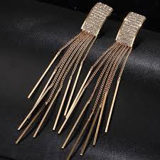 Купить <b>длинные золотые серьги с</b> кисточками от 173 руб ...