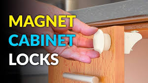 These Baby Proof Cabinet Locks Use Magnets To Open And Close Youtube
