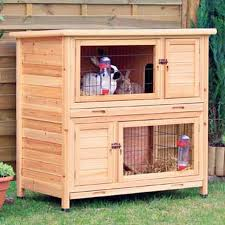 Trixie Natura Two Story Animal Hutch in Brown