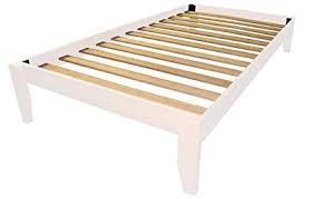 Stockholm Solid Wood Bamboo Platform Bed Frame, Twin-size, White Finish