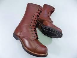 ww2 us army paratrooper jump boots 100 leather top repro