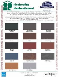 Shingle Color Chart Wakefield Bride Steel Shingles Color Chart