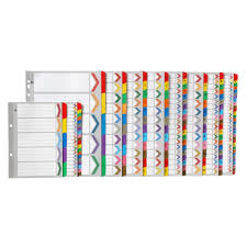 Marbig Dividers Indices Marbig Plastic Tab Coloured
