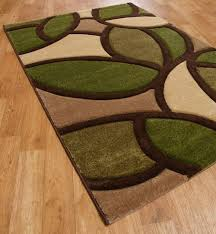 brown and lime green rug designs