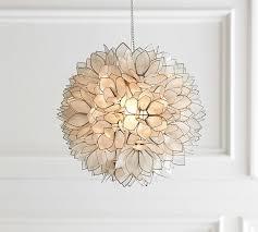 capiz pendant pottery barn capiz lighting chandelier
