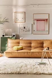 urban outfitters furniture review. Slide View: 1: Greta Recycled Leather XL Sleeper Sofa Urban Outfitters Furniture Review