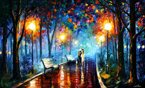 Painting Canvas Misty Mood Palette Knife Oil Painting On Canvas By Leonid