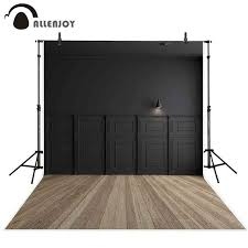Online Shop <b>Allenjoy</b> black frame wall lamp light brown wooden ...