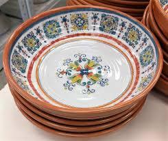 Melamine Dinnerware Designs Amazon Com Mediterranean Breeze Napastyle Melamine