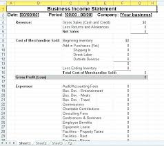 Company Income Statement Template Nahuatl Info
