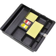 office drawer organizers. 3m Recycled Plastic Desk Drawer Organizer Tray Black Office Organizers