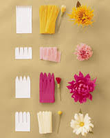 Tissue Paper Flower How To Make How To Make Crepe Paper Flowers Martha Stewart