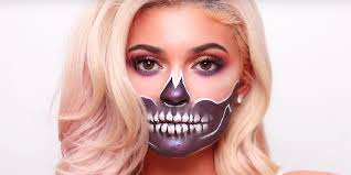 kylie jenner skull halloween makeup tutorial james charles skull makeup look