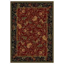 shaw living muscadine rectangular burdy area rug