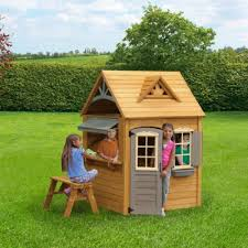 cute wooden playhouse for kids best outdoor