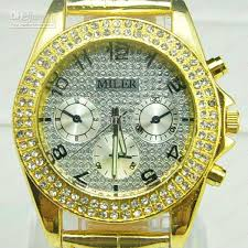 mall buy whole cheap lexury jewelled diamond watches lexury jewelled diamond watches for men women milter gold a688 leather candy watches 20pcs