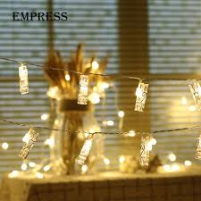 Track Lighting Clips 5m 20leds Clips Led String Light Card Photo Battery Operated