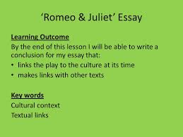 essay question compare romeo s feelings for rosaline in act  10 romeo juliet essay learning outcome