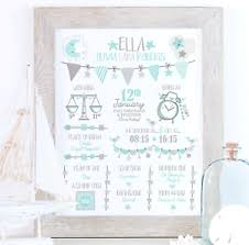 image is loading birth details print personalised baby boy gift mint  on personalised baby boy wall art with birth details print personalised baby boy gift mint nursery wall