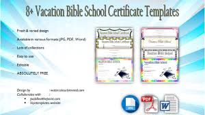 Vbs Certificate Template Vbs Certificate Template Free Lifeway Completion Attendance