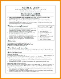 Marvelous Decoration Physician Assistant Resume Physician Assistant