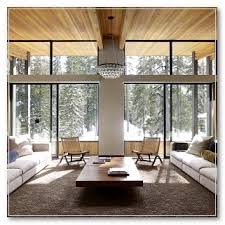 Snows Furniture Tulsa Ok Rustic Living Room With Dark Wood Trim