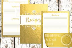 recipe book recipe pages recipe book cover gold foil double sided a5 kitchen calligraphy jpg high