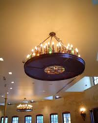 beer bottle chandelier pearl brewery