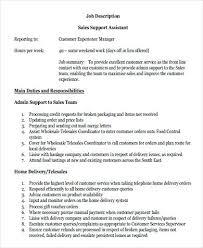 Sales Support Manager Job Description Sales Support Assistant Job ...
