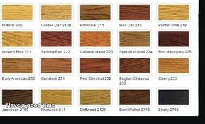 Bona Fast Dry Stain Color Chart Bona Stain Colors For Floors Provincial On Red Oak Home