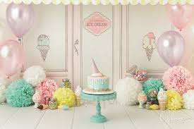 Birthday Cake Smash Ice Cream Shop Theme Gilmore Studios