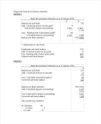 Bank Statement Reconciliation Form Cash Reconciliation Form Template Puntogov Co