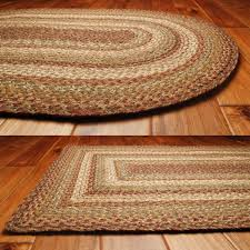 homespice decor jute braided area rug harvest tan cream yellow