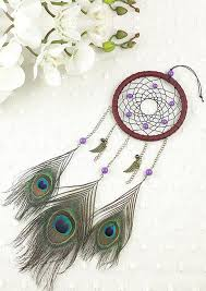 Dream Catcher Without Feathers Handmade Peacock Feather Dream Catcher Hanging Decoration Bellelily 77