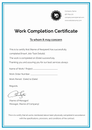 Document Template Word Certificate Of Ojt Completion Sample Document Template Word
