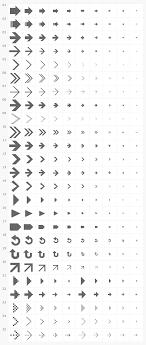 フリーデザイン素材シンプル矢印アイコン25種10サイズ Pixel Lab