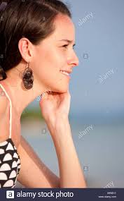 young attractive woman on vacations at the sea